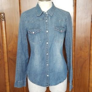 Decree Western Style Denim Shirt,  L